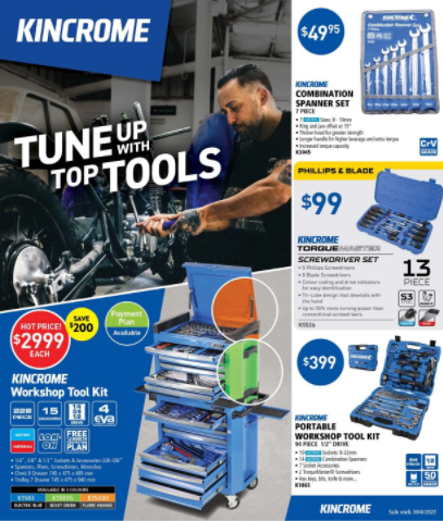 Kincrome Tune with Top Tools Sale